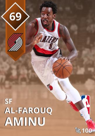 Al-Farouq Aminu bronze card