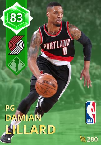 Damian Lillard emerald card