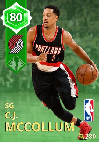 C.J. McCollum emerald card