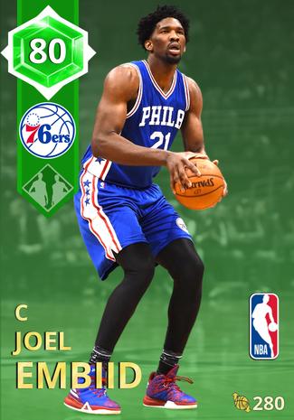 Joel Embiid emerald card