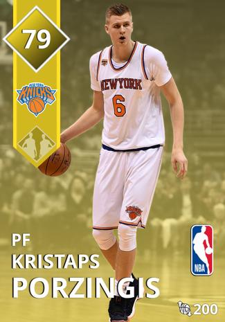 Kristaps Porzingis gold card