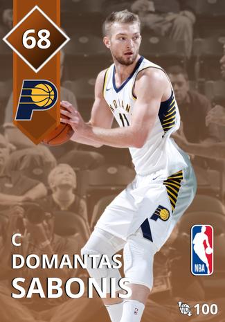 Domantas Sabonis bronze card
