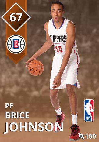 Brice Johnson bronze card