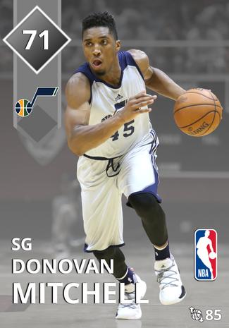 Donovan Mitchell silver card