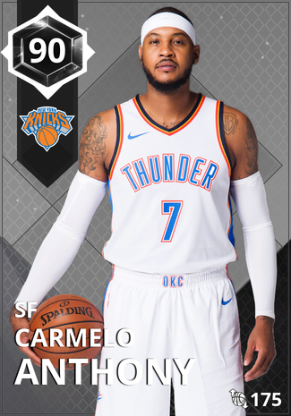 '21 Carmelo Anthony onyx card