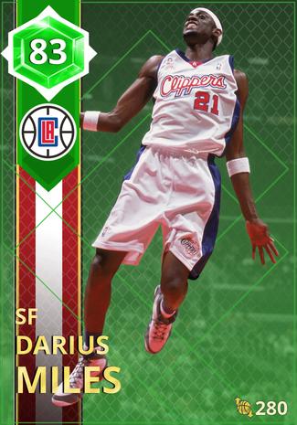 '06 Darius Miles emerald card