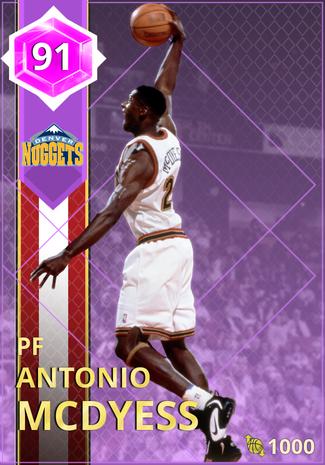 '02 Antonio McDyess amethyst card