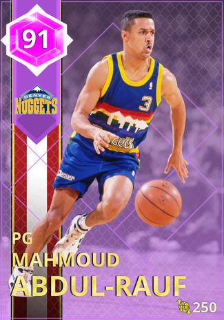 '98 Mahmoud Abdul-Rauf amethyst card