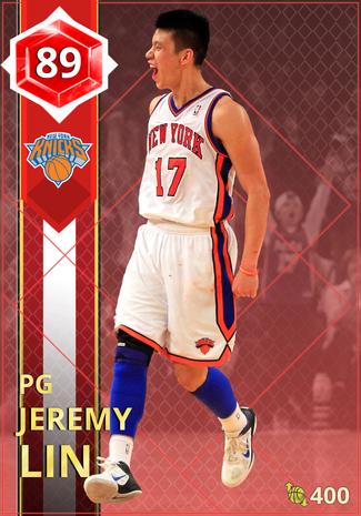 '17 Jeremy Lin ruby card
