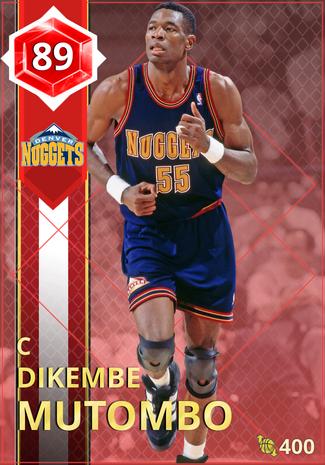 '95 Dikembe Mutombo ruby card