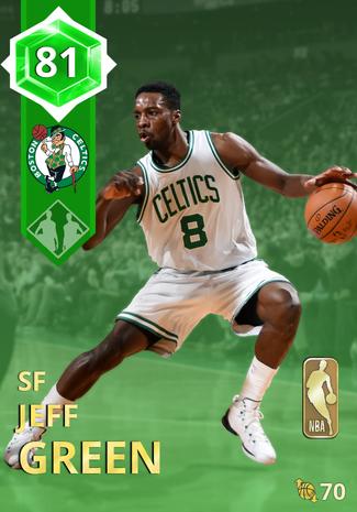 '15 Jeff Green emerald card