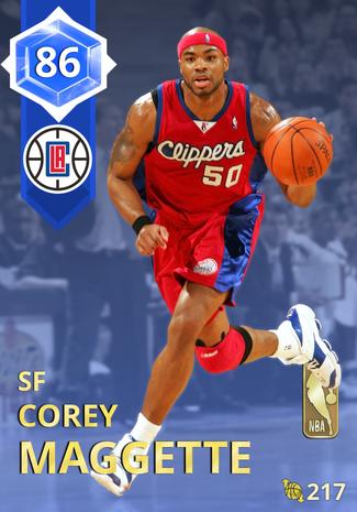 '08 Corey Maggette sapphire card