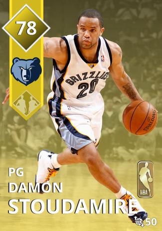 '02 Damon Stoudamire gold card