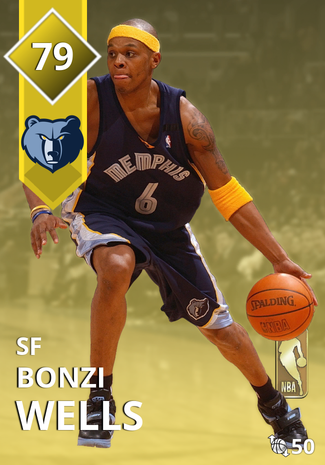 '05 Bonzi Wells gold card
