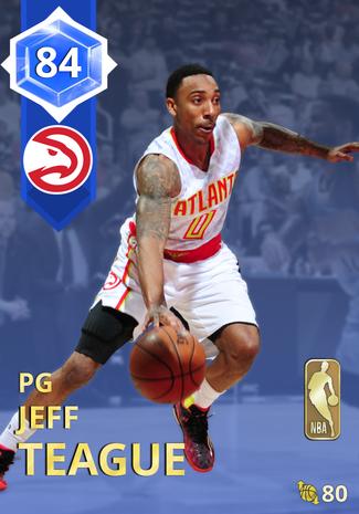 '17 Jeff Teague sapphire card
