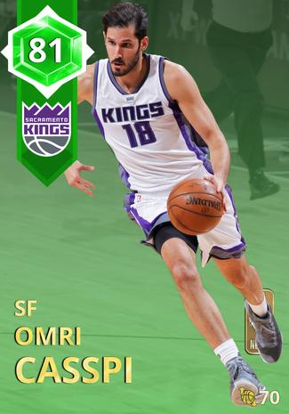 '17 Omri Casspi emerald card