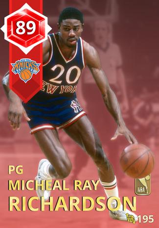 '84 Micheal Ray Richardson ruby card