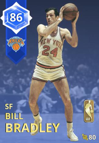 '72 Bill Bradley sapphire card