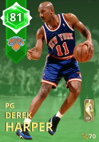 '90 Derek Harper emerald card