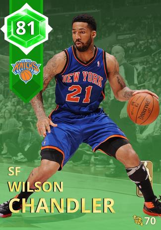 '16 Wilson Chandler emerald card