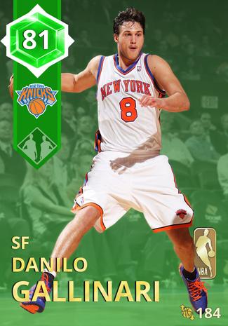 '17 Danilo Gallinari emerald card