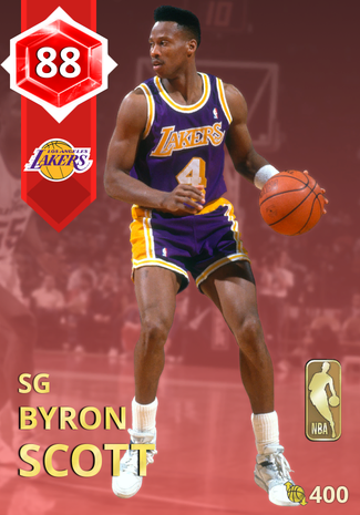 '90 Byron Scott ruby card