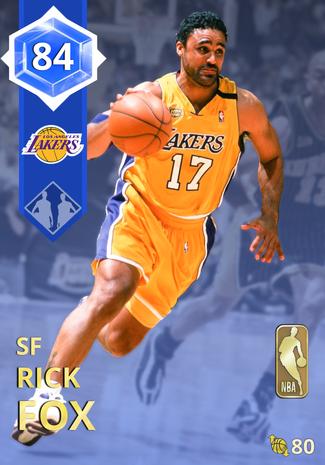 '98 Rick Fox sapphire card