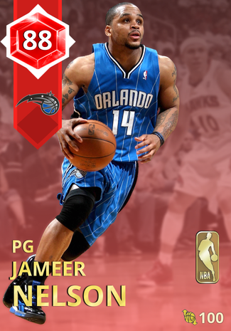 '11 Jameer Nelson ruby card