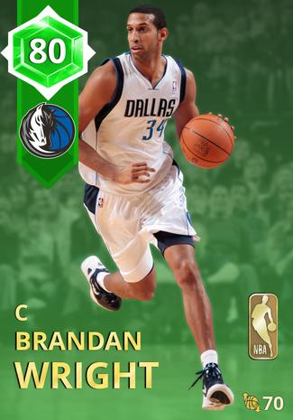'16 Brandan Wright emerald card