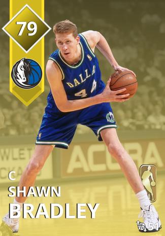 '01 Shawn Bradley gold card