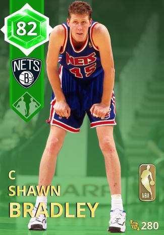'01 Shawn Bradley emerald card