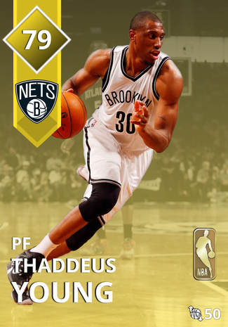 '17 Thaddeus Young gold card