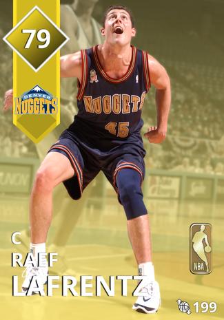 '05 Raef Lafrentz gold card