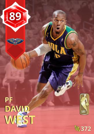 '09 David West ruby card