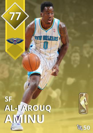 '19 Al-Farouq Aminu gold card