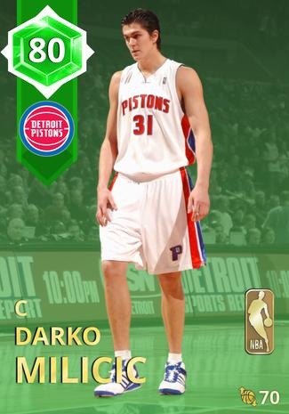'14 Darko Milicic emerald card