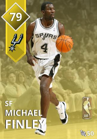 '02 Michael Finley gold card