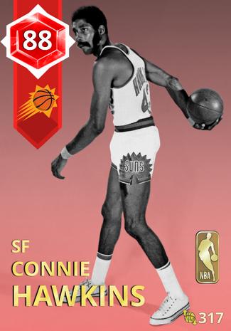 '71 Connie Hawkins ruby card