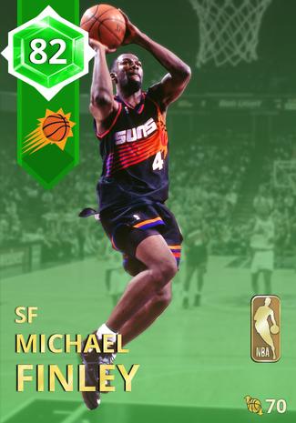 '02 Michael Finley emerald card