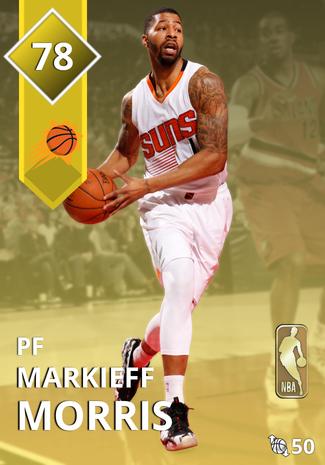 '18 Markieff Morris gold card