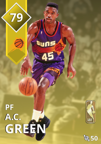 '92 A.C. Green gold card