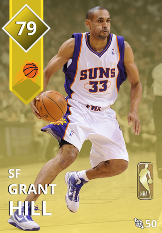 '01 Grant Hill gold card