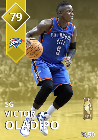 '21 Victor Oladipo gold card
