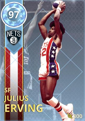 '76 Julius Erving diamond card