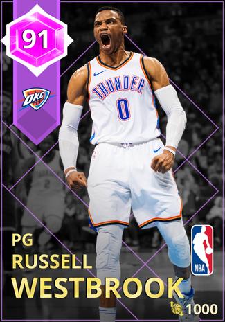 Russell Westbrook amethyst card