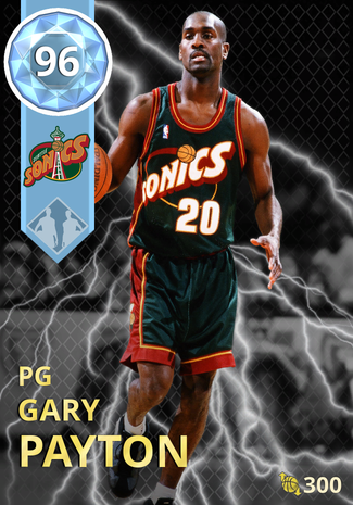 '00 Gary Payton diamond card