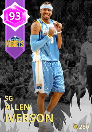 '11 Allen Iverson amethyst card