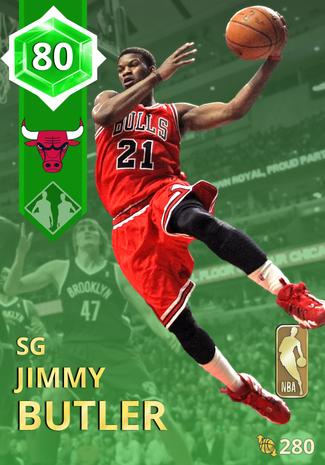 '14 Jimmy Butler emerald card
