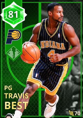 '05 Travis Best emerald card