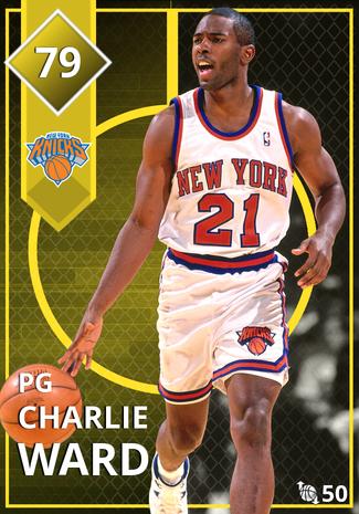 '03 Charlie Ward gold card